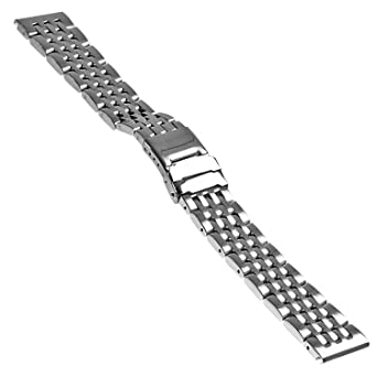 7c25be6e39c StrapsCo Stainless Steel Replacement Watch Band Bracelet Strap for  Breitling Navitimer   World - Choice of Finish   Size  Amazon.co.uk  Watches