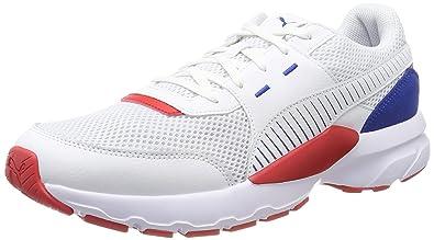 c2faedd5b2f0d Amazon.com   Puma Men's Low-Top, White-Galaxy Blue-high Risk Red 07 ...
