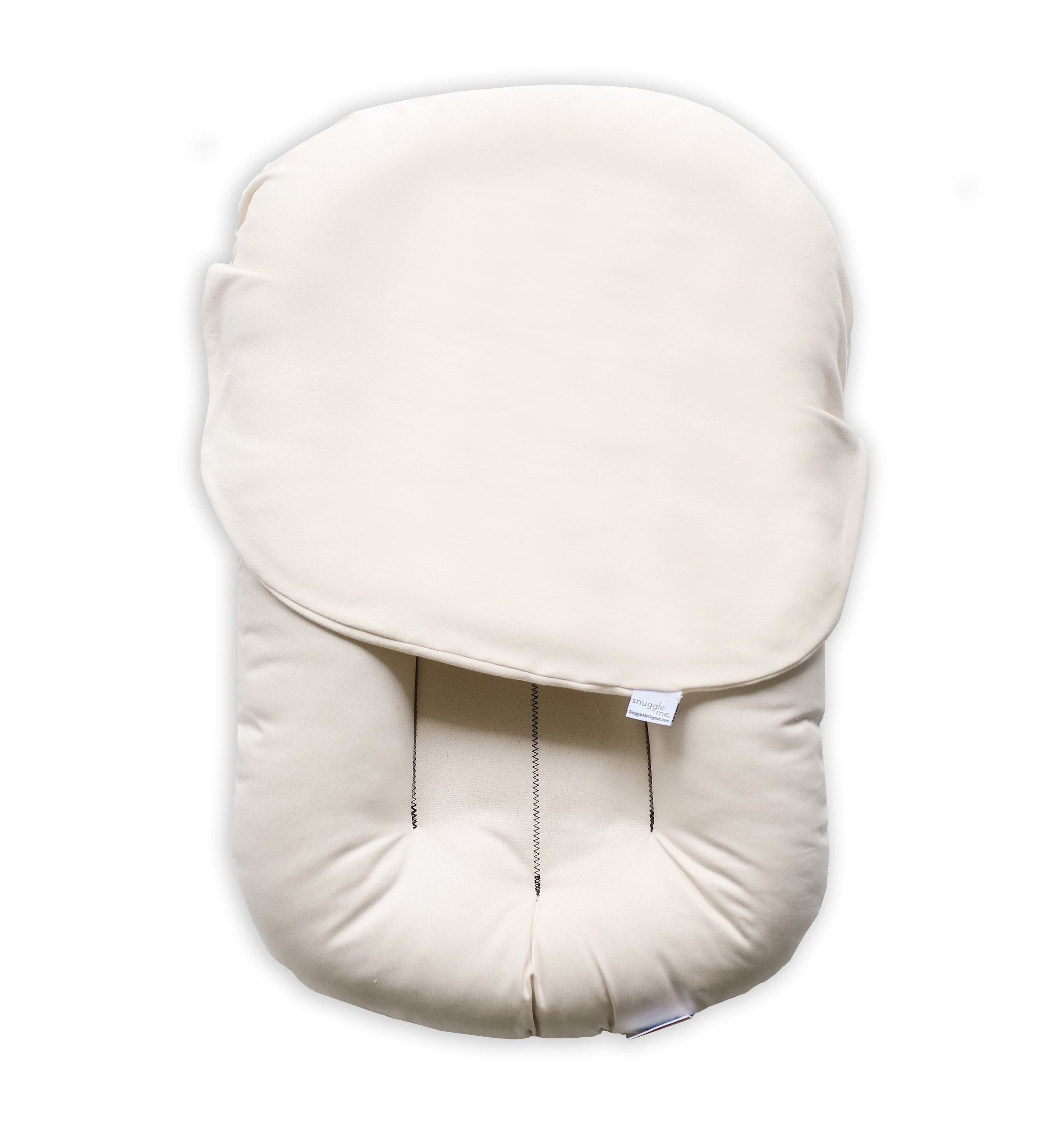 Snuggle Me Organic | Direct from Manufacturer | No Travel Bag | Organic Cotton, Virgin Poly Fiber Fill | Includes Lounger and Cover only