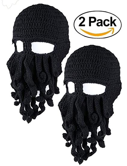 f9f4b500b72 Unisex Barbarian Knit Beanie Octopus. Roll over image to zoom in.  Amurleopard