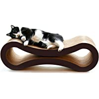 PetFusion Ultimate Cat Scratcher Lounge (Walnut Brown). [Superior Cardboard & Construction, significantly outlasts cheaper alternatives]