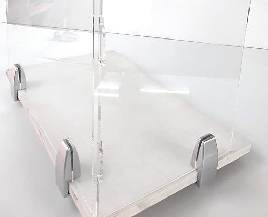 Mampara separadora para profesor. Pantalla protección para Mesa anclajes incluidos(Pack 4 unidades 120 cm): Amazon.es: Industria, empresas y ciencia