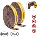 2-Pack Keliiyo Door Weather Stripping 66-Foot Roll