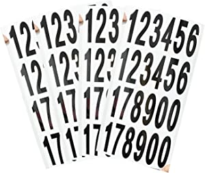 10 Sheets Numbers Stickers Mailbox Numbers Stickers, Waterproof Self Adhesive Vinyl Numbers for Indoor & Outdoor, Mailbox, Signs, Window, Door, Cars, Home, Business, Address Number (Black on White)