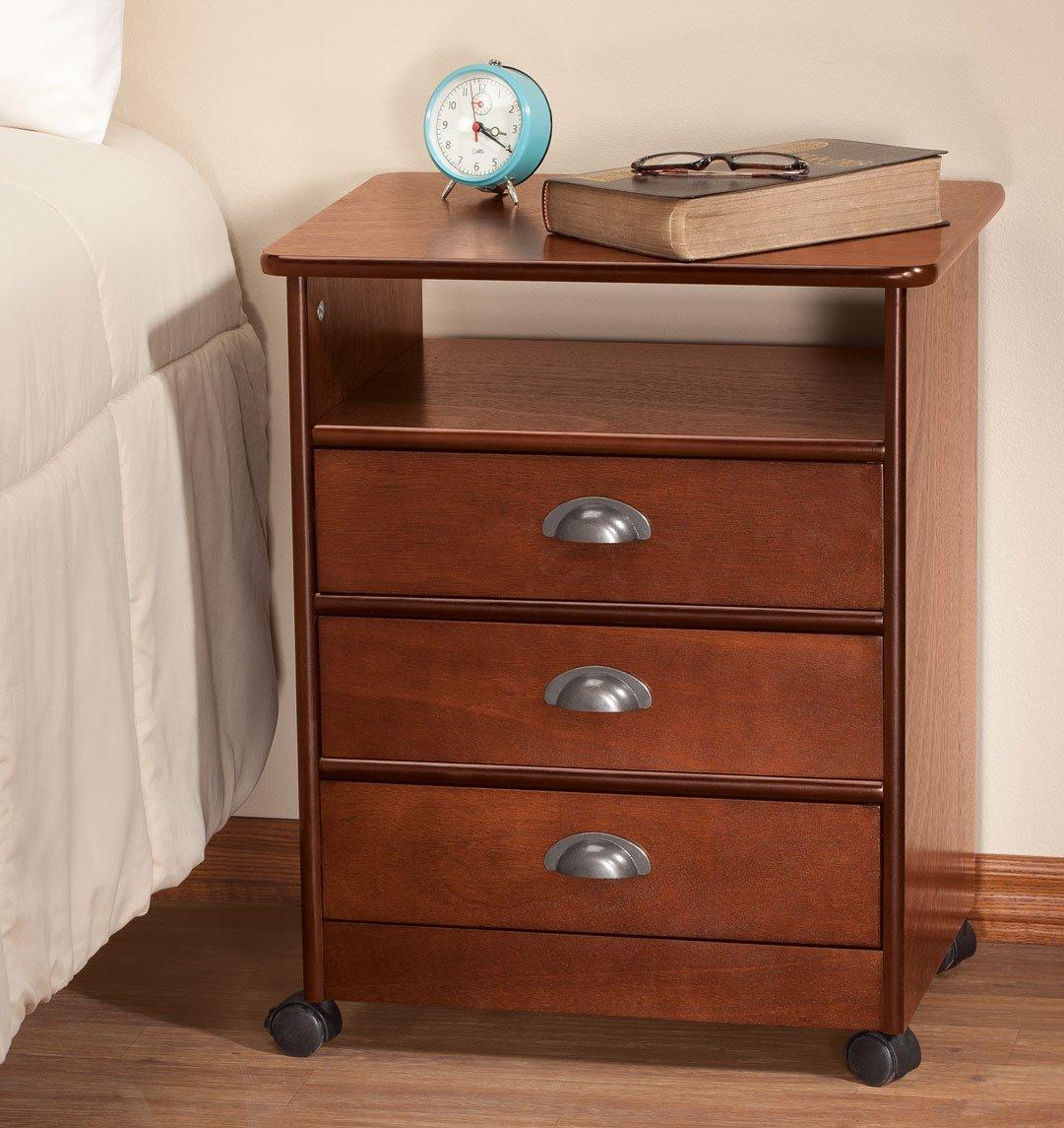 Amazon.com: OakRidge - Mesa de madera con 3 cajones ...