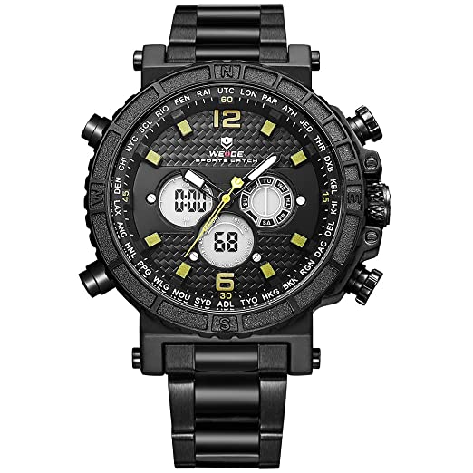 WEIDE deporte digital Moda Militar de la watch-men múltiples función, alarma, temporizador