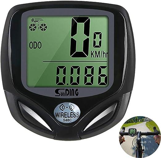 WishY Cuentakilómetros para Bicicleta, inalámbrico Impermeable con ...