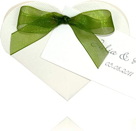 Einssein 1x Caja de Regalo Boda Heart Blanco Cajas Bonitas para cajitas Regalos Bombones Carton bolsitas Papel chuches Bodas Bautizo pequeñas pequeña recordatorios comunion Navidad Decorar: Amazon.es: Hogar