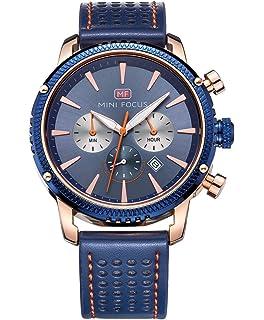 88245a73ef MINI FOCUS メンズ腕時計 ファッション ブランド アナログ クオーツ ブラック 革ベルト