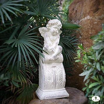 Figura Decorativa para jardín Ángel Retro Columna Romana Estatuilla Resina Impermeable Jardín Estatua Para Jardín Decoración De Césped Regalo - 20 * 14 * 52 Cm A: Amazon.es: Bricolaje y herramientas