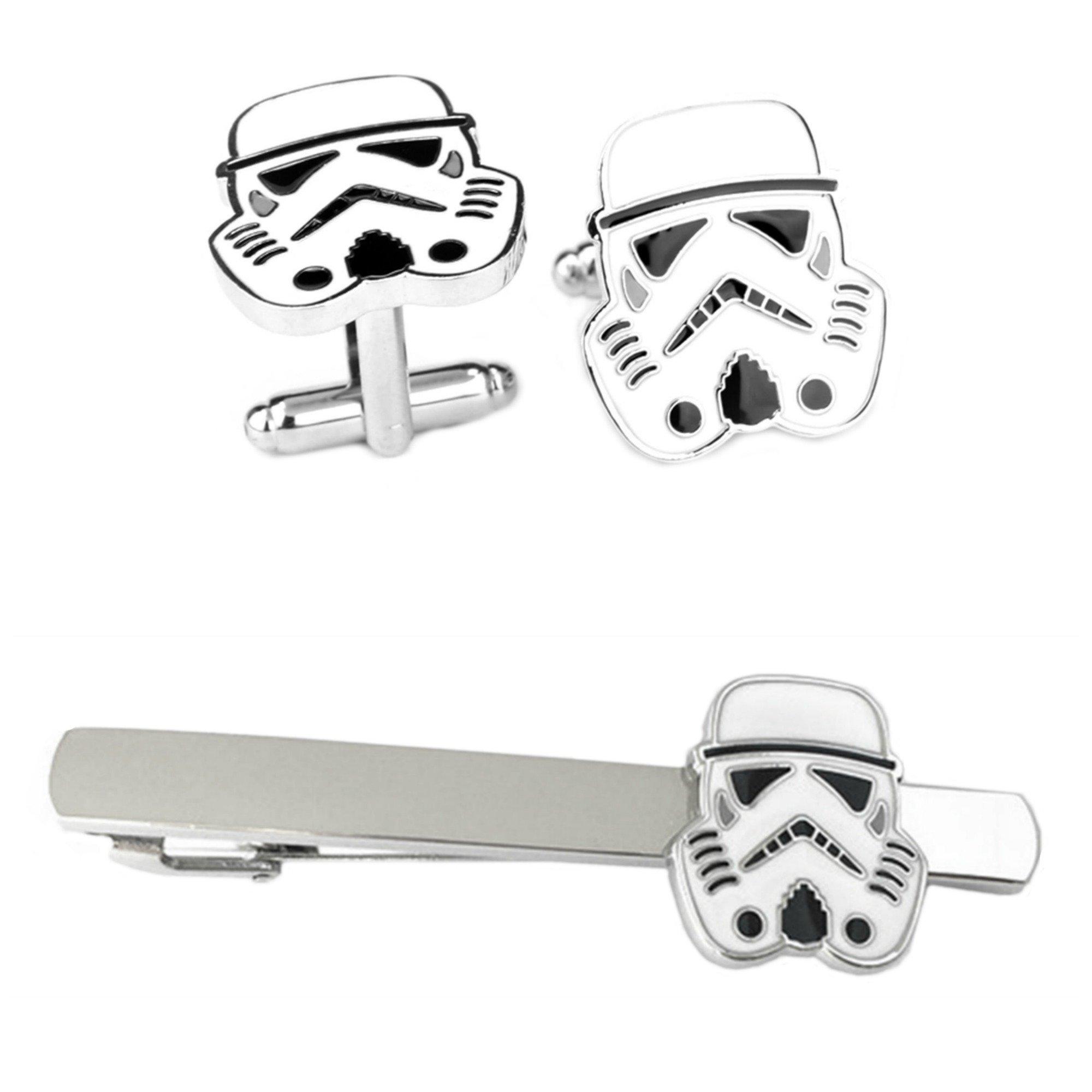 Outlander Storm Trooper Cufflink &Tiebar - New 2018 Star Wars Movies - Set of 2 Wedding Logo w/Gift Box