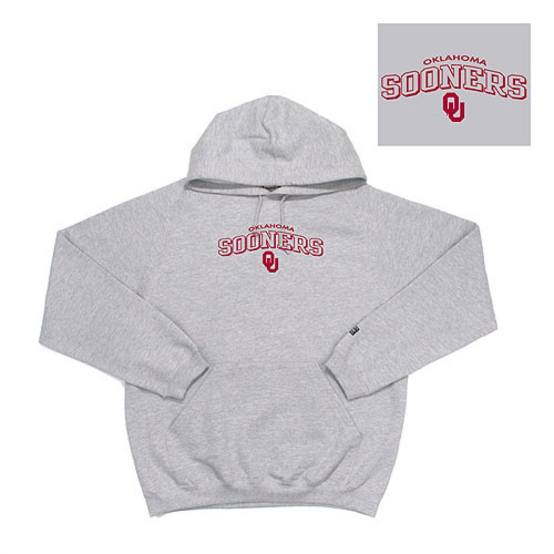 Oklahoma Sooners NCAA Goalie Hooded Sweatshirt Heather Grey 2X-Large