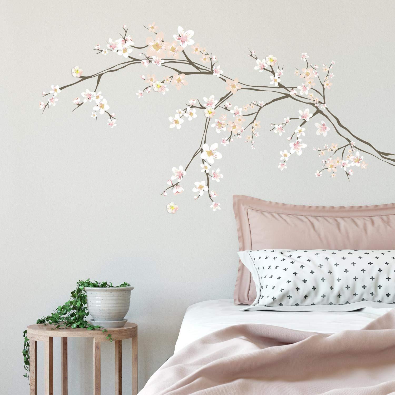 Vinilo Decorativo Pared [7pbxm6jx] Flores De Cerezo 3d