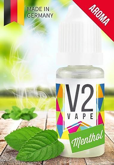 V2 Vape Menthol Concentrate alta dosis de sabor a comida premium 10ml 0mg libre de nicotina