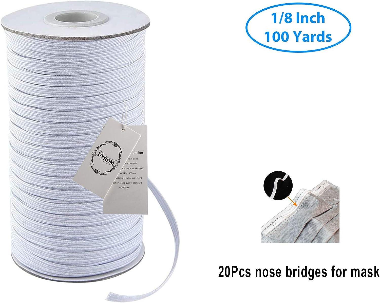 Amazon Com Dyrdm 100 Yards Elastic Band For Sewing 1 8 3mm