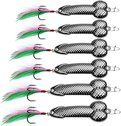 Fishing Lure Spoon Metal Lure Bait Jig Treble Hooks Spinners Artificial Hard Lure Split Rings for Trout
