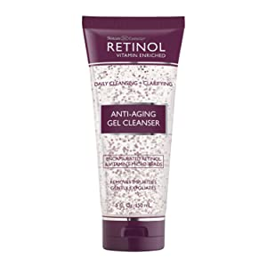 Retinol Anti-Aging Gel Cleanser – Gently Cleans Impurities From Pores & Exfoliates for Soft, Smooth Skin – Antioxidant-Rich Micro-Beads w/ Vitamin A & E Maximize Renewing Benefits Of Retinol