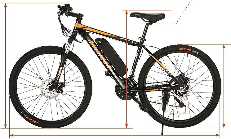 Ancheer Bicicleta eléctrica Plegable para Adultos, Color Blanco y ...