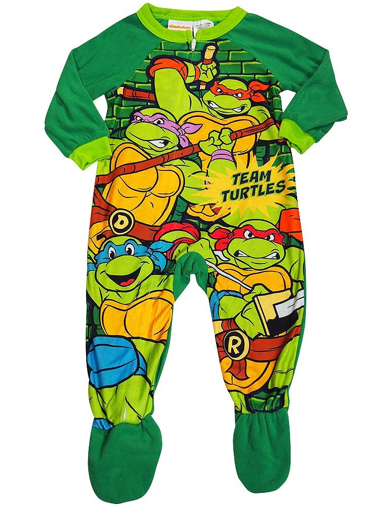Teenage Mutant Ninja Turtles - Little Boys Blanket Sleeper Green 38194-3T-FBA