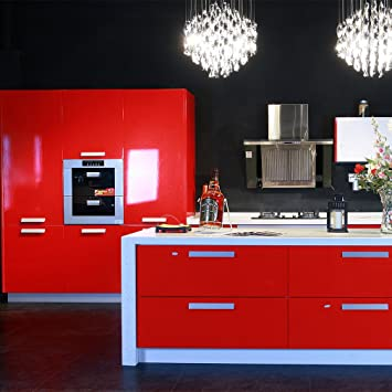 hot mueble de cocina de primera calidad engomada del pvc auto rollos de papel pintado adhesivo