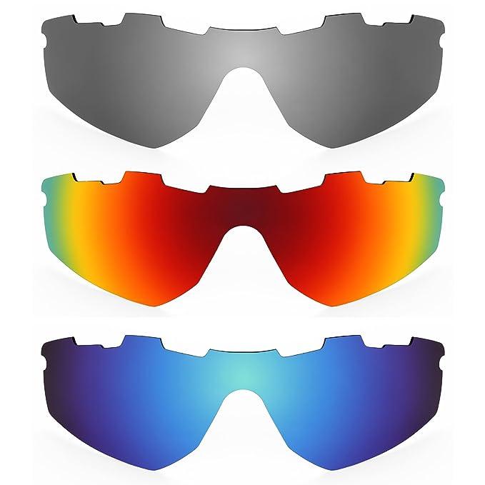 Revant Combo de 3 pares de lentes polarizados, de reemplazo, para Oakley Radar (