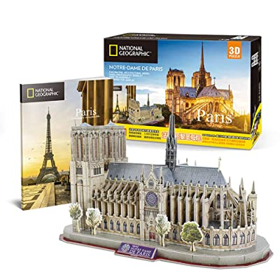 Hola-Luz 3D Puzzle World Famous Attractions, City Building Model Assembly Toy Children Educational Toys Insert Toys for Kid boy Girl (Notre Dame Cathedral, Paris): Home & Kitchen