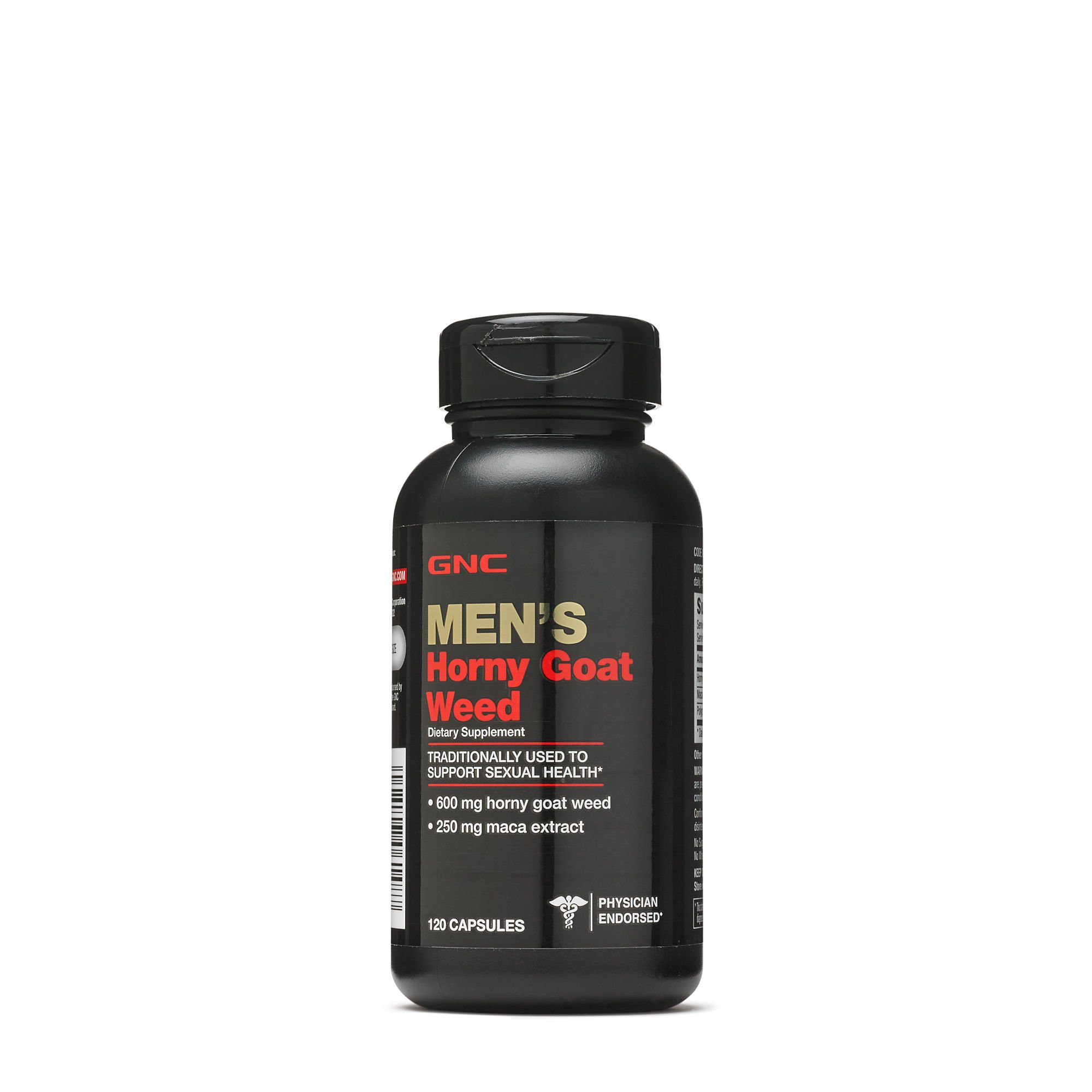 GNC Horny Goat Weed, 120 Capsules, Supports Sexual Health