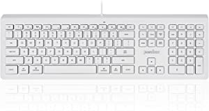 Perixx PERIBOARD-323 Wired Backlit Keyboard for Mac OS X, X Type Scissor Keys, White LED, Full Size Layout, Model:PB-323US-11352