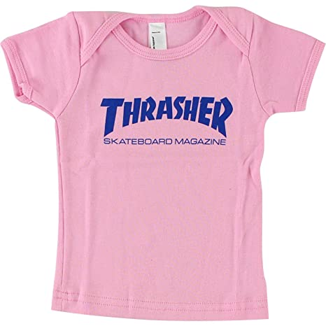 e1727373ca3 Amazon.com  Thrasher Magazine Mag Logo Pink   Blue Infant T-Shirt 6-12  Months - Small  Sports   Outdoors