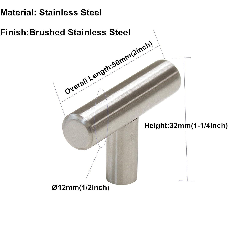 asas de armario LS201BSS plateado manijas de puerta de cocina LONTAN Manijas de acero cepillado paquete de 15