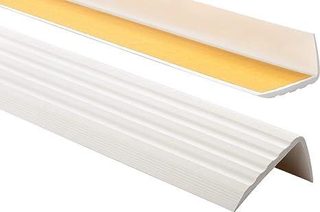 Grau PVC Treppenkantenprofil Selbstklebend Winkelprofil Anti-Rutsch Treppenkante 41x25mm 2m