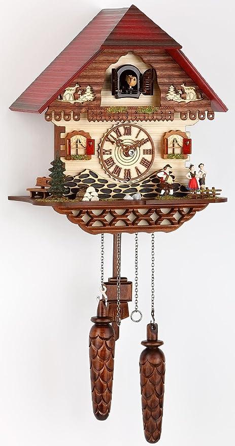 Alemán Reloj de cuco - estilo Chalet - con mecanismo de cuarzo - 32 cm -