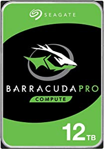 Seagate BarraCuda Pro 12TB Internal Hard Drive Performance HDD – 3.5 Inch SATA 6 Gb/s 7200 RPM 256MB Cache for Computer Desktop (ST12000DM0007) (Renewed)