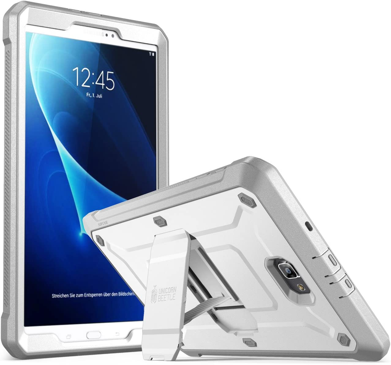 SUPCASE Galaxy Tab A 10.1 Case,[Heavy Duty] [Unicorn Beetle Pro Series] Full-Body Rugged Protective Case with Built-In Screen Protector for Samsung Galaxy Tab A 10.1 Inch 2016 (No Pen Version) (White)