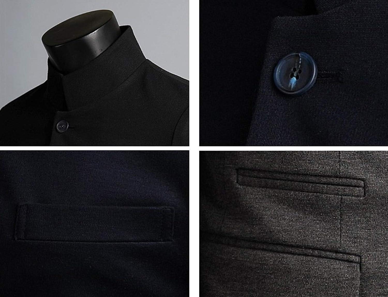 Mens Premium Stylish China Collar Long Blazer Jacket Coat
