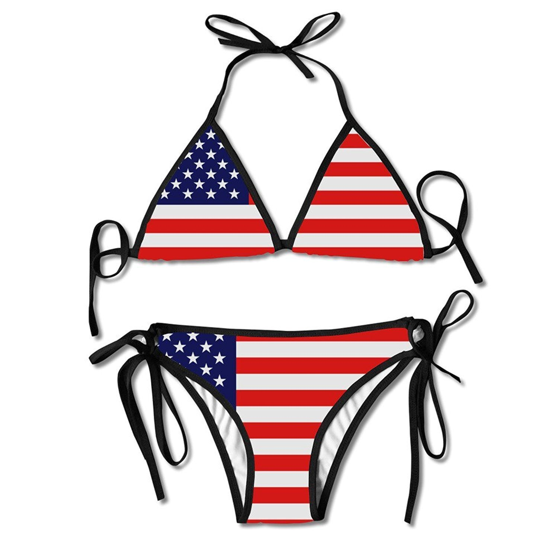 f92c4420cee2a Amazon.com: Jamaican Flag Stripe Caribbean Island Juniors Sexy Thong Soft  Padded Bikini Set Two Piece Swimsuits: Clothing