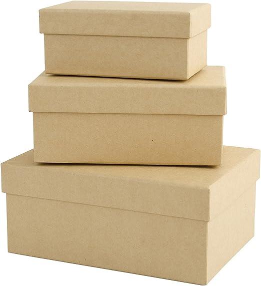 Papermania - Cajas Decorativas rectangulares (tamaño pequeño ...