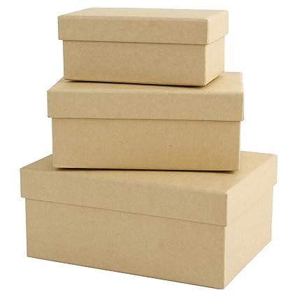 Papermania - Cajas decorativas rectangulares (tamaño pequeño, mediano y grande)