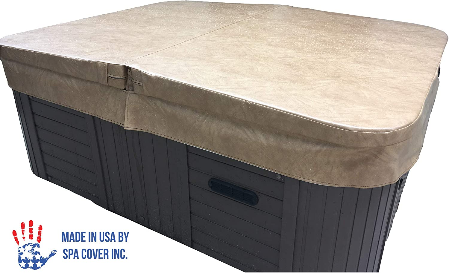 BeyondNice Basic Hot Tub Cover, Custom Made 4 Thick Insulating Replacement Spa Cover – World s Only Design Your Own Ordering Wizard Insures Every Cover is Made Perfectly for Every Customer
