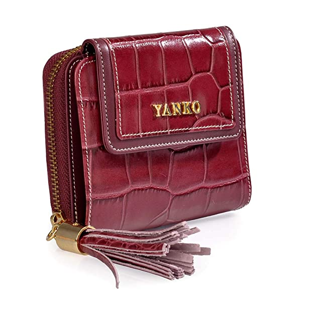 Yanko Monedero con Billetero de Mujer 1844 (Color: Burdeos): Amazon.es: Zapatos y complementos