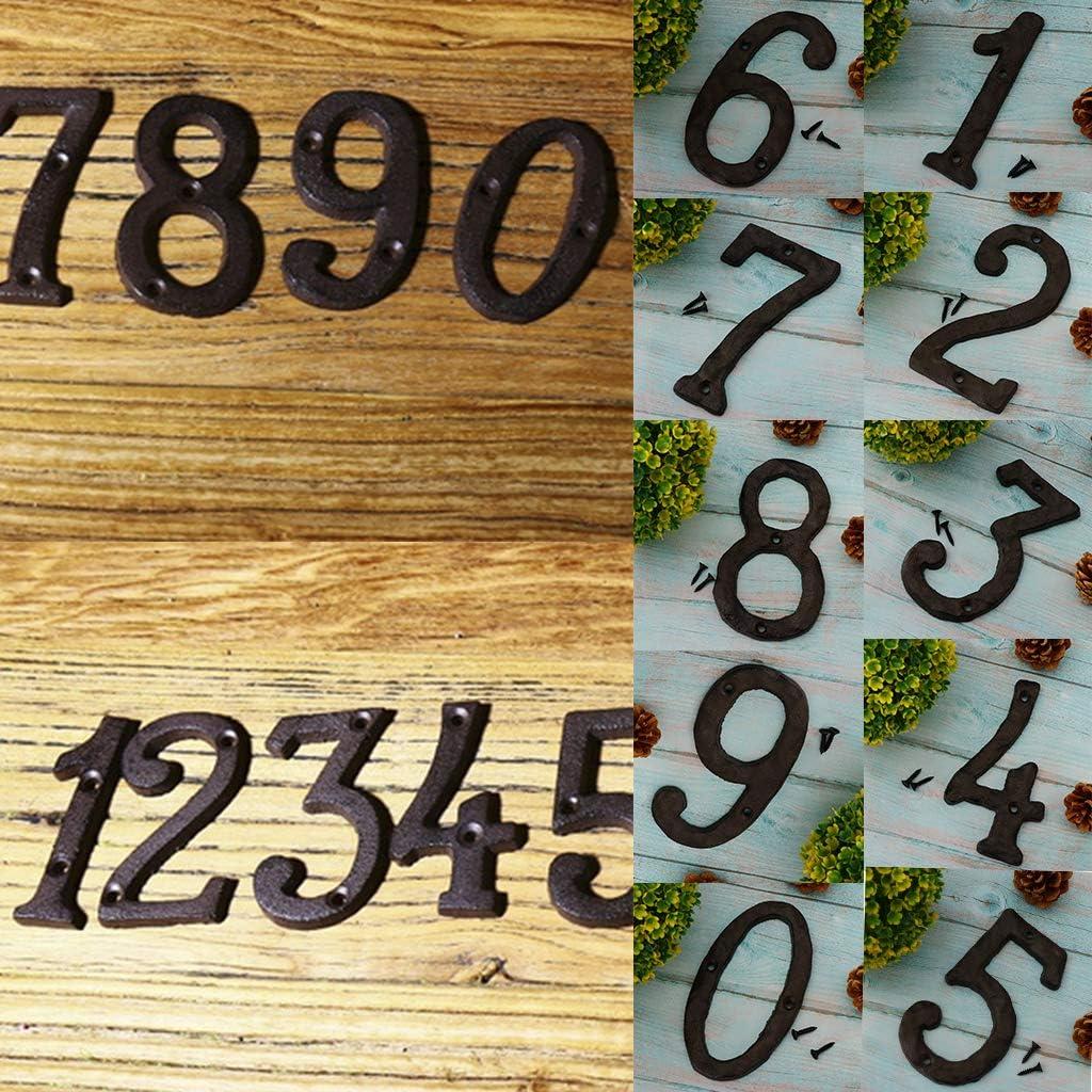 0-9 Vintage Retro Türnummer Hausnummer Schilder Türschilder