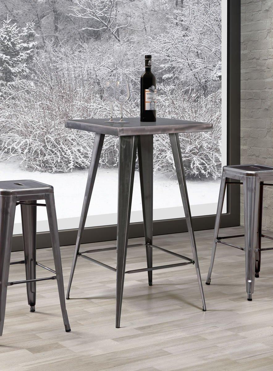 Zuo Modern Olympia Bar Table, Gunmetal