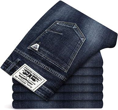 Loeay Jeans Para Hombres Tallas Grandes 40 42 44 46 Jeans Para Hombres Clasico Casual Primavera Otono Verano Jeans Hombres Pantalones Rectos Elasticos Largos Amazon Es Ropa Y Accesorios
