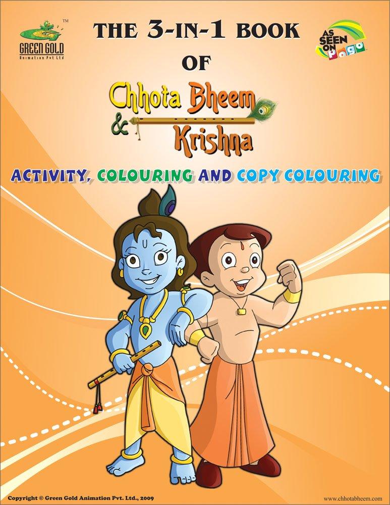 buy chhota bheem and krishna activity colouring and copy colouring