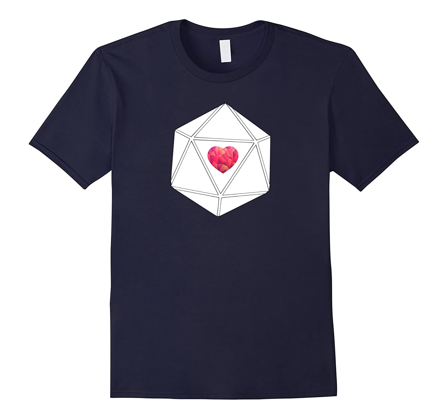 20d Heart Love - Dungeons Role Playing Tee for Girls Women-CD