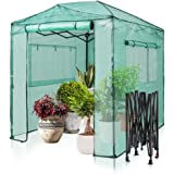 EAGLE PEAK 8'x6' Portable Walk-in Greenhouse Instant Pop-up Fast Setup Indoor Outdoor Plant Gardening Green House Canopy, Fro