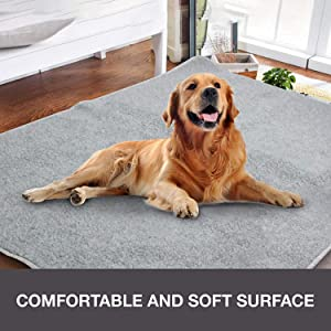 Dog Trunk Fleece Mat Pet Reusable Kennel Pad & Bed Mat for Dog Cat Waterproof Kennel Pad Pet Furniture Protection Pad 47.2 in x 31.5 in/29.5 in x 19.7 in