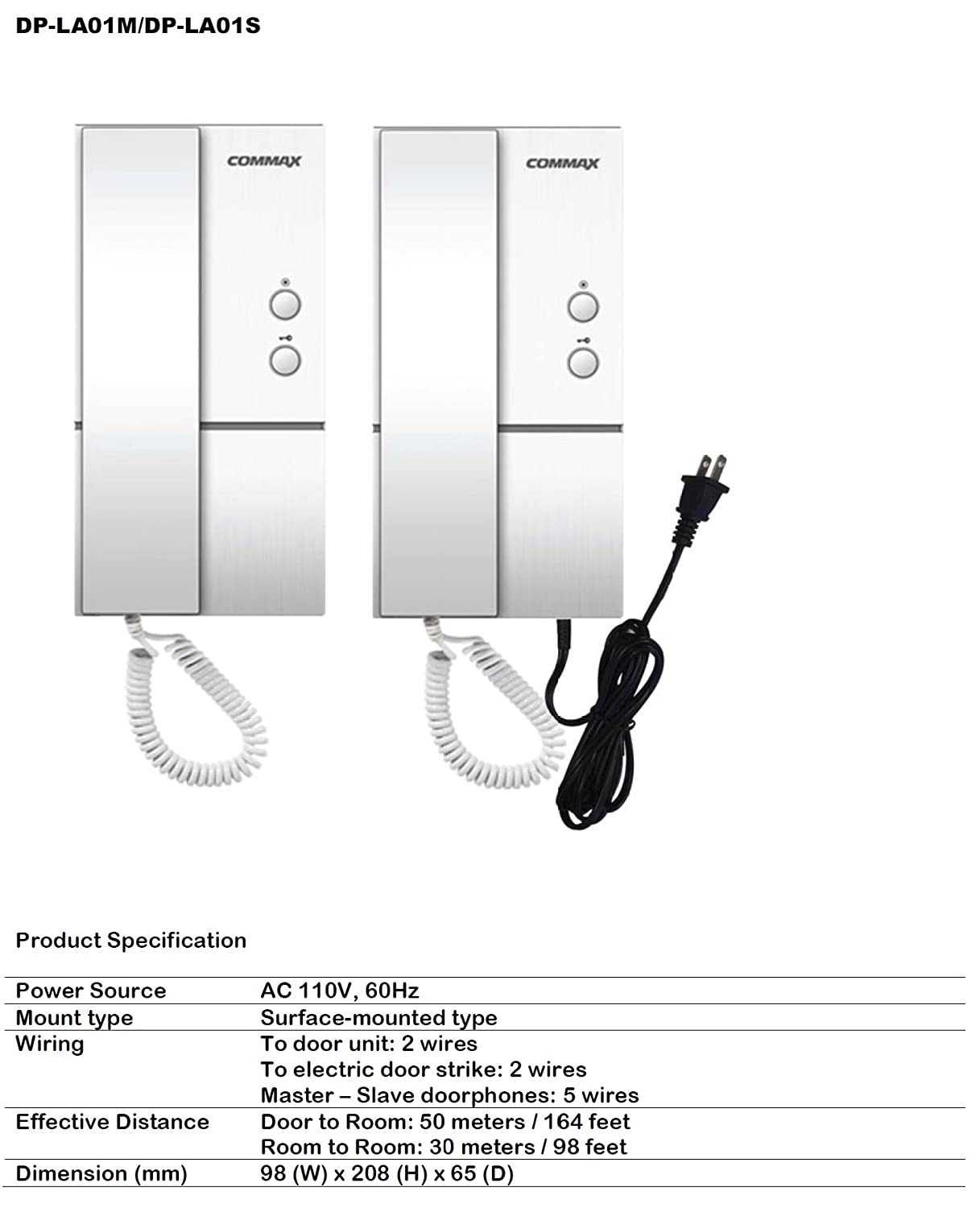 71AR pMynOL._SL1500_ amazon com commax audio doorphones and vandal proof doorbell kit commax dp-2s wiring diagram at fashall.co