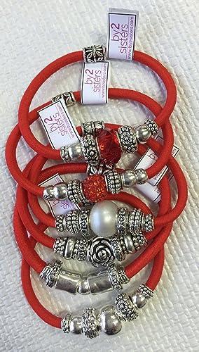 Pack pulseras-coleteros rojo: Amazon.es: Handmade