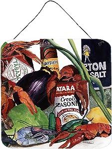 Caroline's Treasures 8131DS66 Louisiana Spices Aluminium Metal Wall or Door Hanging Prints, 6x6, Multicolor